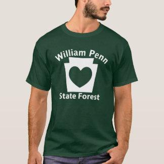 Coração de William Penn SF - o t-shirt escuro dos