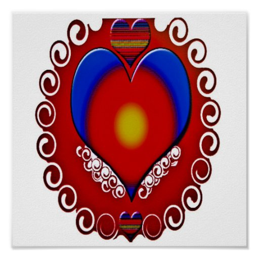 Coração decorativo posters