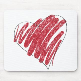 coração desvanecido mouse pads