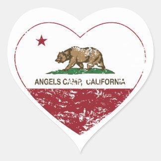 coração do acampamento dos anjos da bandeira de adesivos de corações
