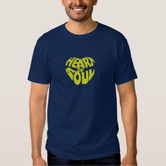 Coração do amarelo da alma t-shirt