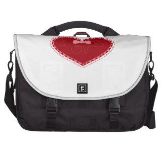 Coração do amor do dia dos namorados mala para laptop