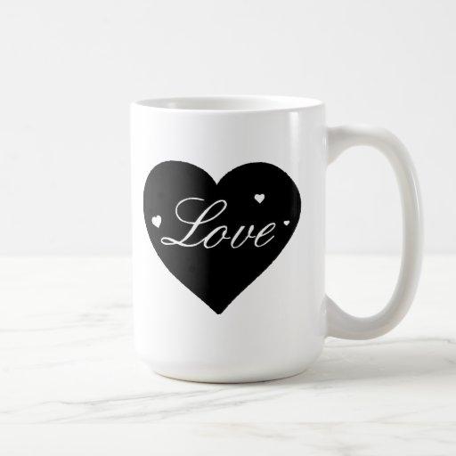 Coração do amor do dia dos namorados caneca