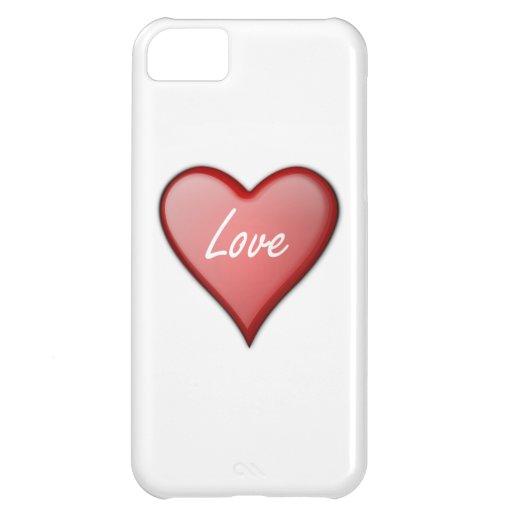 Coração do amor do dia dos namorados capas para iphone5C