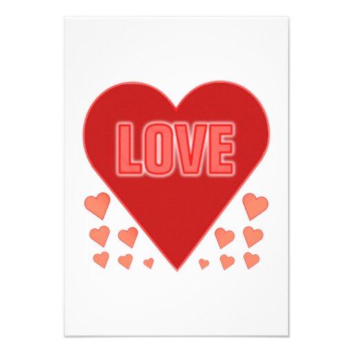 Coração do amor do dia dos namorados convites