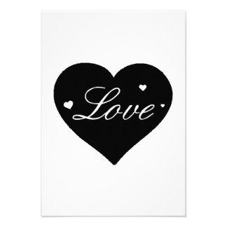 Coração do amor do dia dos namorados convites personalizado