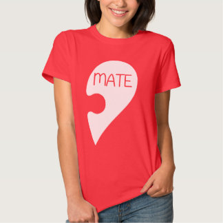 Coração do amor do dia dos namorados do Soulmate T-shirts