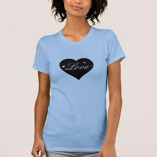 Coração do amor do dia dos namorados camiseta