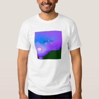 coração do amor no horizonte, azul camisetas