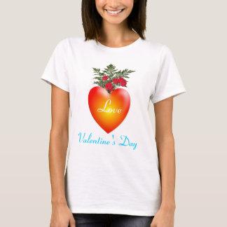 Coração do amor - t-shirt do dia dos namorados