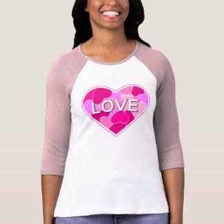 Coração do amor t-shirts