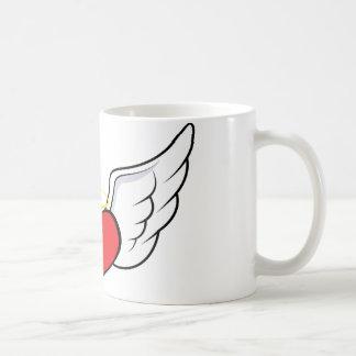 Coração do anjo caneca de café