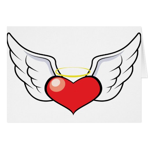 Coração do anjo cartão