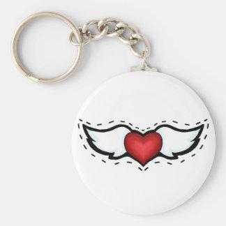 Coração do anjo chaveiro