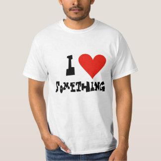Coração do baixo custo - adicione seu texto - t-shirt