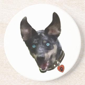 Coração do cão de Catahoula Pawprint Porta Copos Para Bebidas