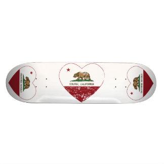 coração do colfax da bandeira de Califórnia afligi Shape De Skate 19,7cm