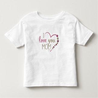 Coração do dia das mães da mamã do amor camisetas