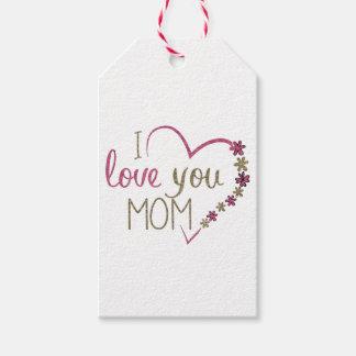 Coração do dia das mães da mamã do amor etiqueta para presente