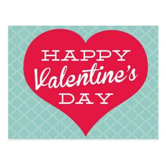 Coração do dia de Valentin feliz Cartao Postal