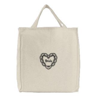 Coração do ébano - noiva bolsa