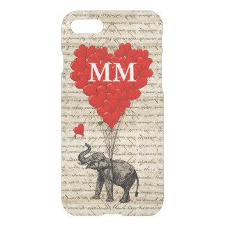 Coração do elefante do vintage capa iPhone 7
