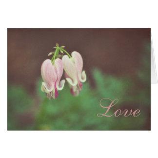Coração do Floral-Sangramento Cartão De Nota