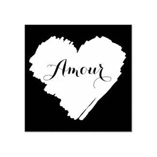 Coração do francês de KiniArt Carimbo De Borracha