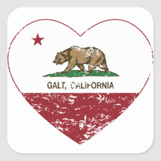 coração do galt da bandeira de Califórnia afligido Adesivos
