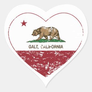 coração do galt da bandeira de Califórnia afligido Adesivo De Coração