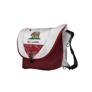 coração do galt da bandeira de Califórnia afligido Bolsas Mensageiro