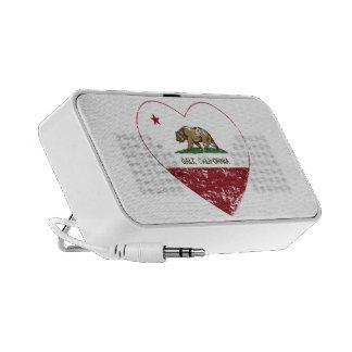 coração do galt da bandeira de Califórnia afligido Caixinhas De Som Para Laptop