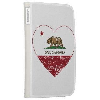 coração do galt da bandeira de Califórnia afligido