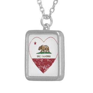 coração do galt da bandeira de Califórnia afligido Colar Personalizado