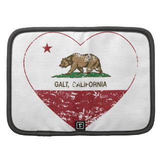 coração do galt da bandeira de Califórnia afligido Organizador