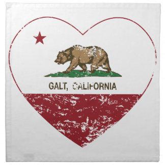 coração do galt da bandeira de Califórnia afligido Guardanapo