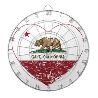 coração do galt da bandeira de Califórnia afligido Jogo De Dardos