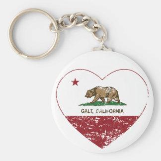 coração do galt da bandeira de Califórnia afligido Chaveiros