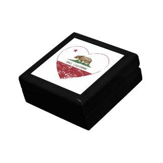 coração do galt da bandeira de Califórnia afligido Caixa De Presente