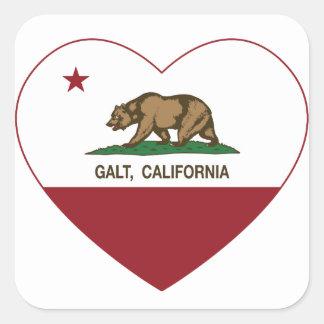 coração do galt da bandeira de Califórnia Adesivos