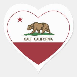 coração do galt da bandeira de Califórnia Adesivos Em Forma De Corações