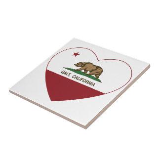 coração do galt da bandeira de Califórnia Azulejo