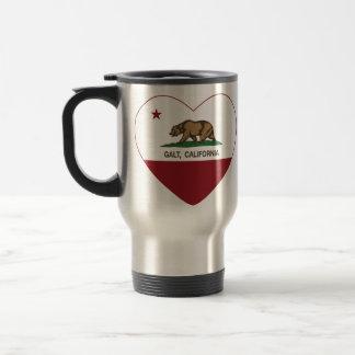 coração do galt da bandeira de Califórnia Caneca
