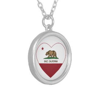 coração do galt da bandeira de Califórnia Bijuterias Personalizadas