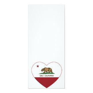coração do galt da bandeira de Califórnia Convite Personalizado