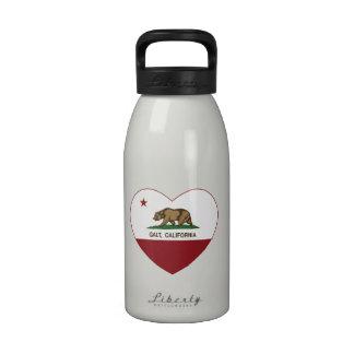 coração do galt da bandeira de Califórnia Garrafinhas De Água