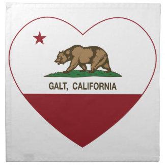 coração do galt da bandeira de Califórnia Guardanapo Impresso