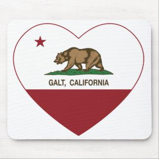 coração do galt da bandeira de Califórnia Mouse Pad