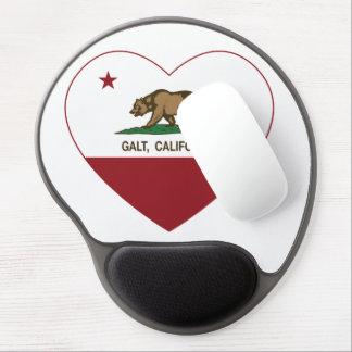 coração do galt da bandeira de Califórnia Mouse Pad De Gel