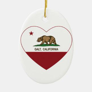 coração do galt da bandeira de Califórnia Enfeite Para Arvore De Natal